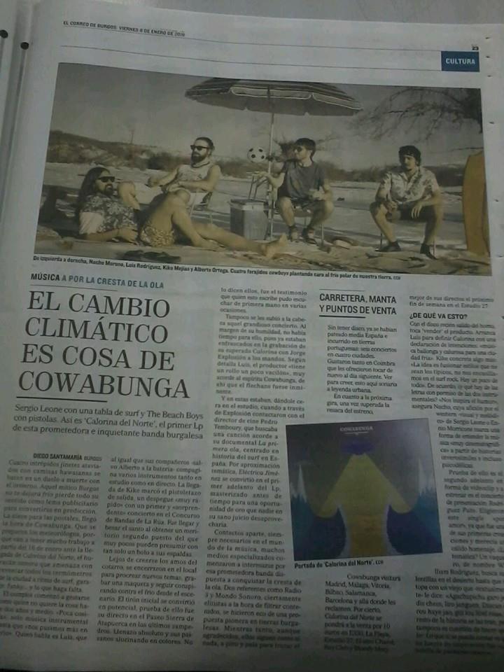 Extra, extra, Cowabunga en la prensa!